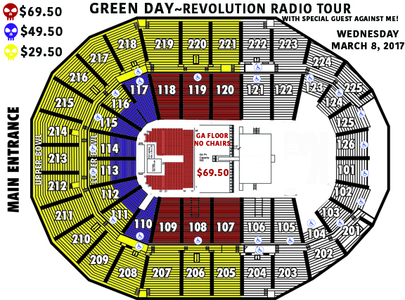 Green Day Seating Chart