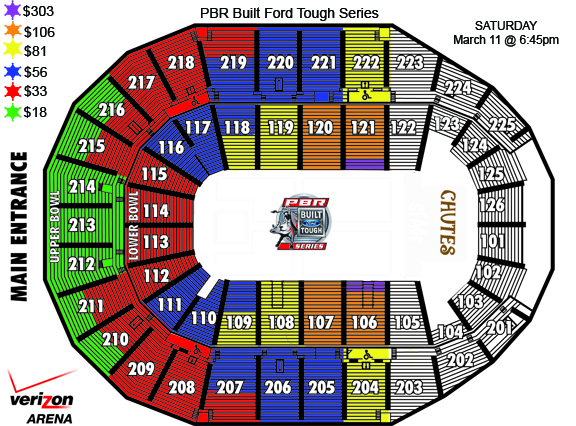 Professional Bull Riders 2017 Seating Chart