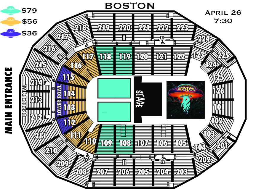 Boston Seating Chart
