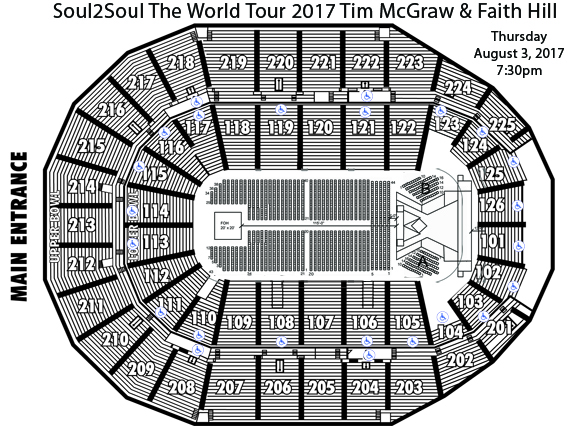 Tim McGraw & Faith Hill Seating Chart