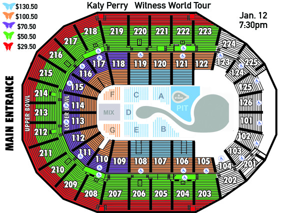 Katy Perry Seating Chart