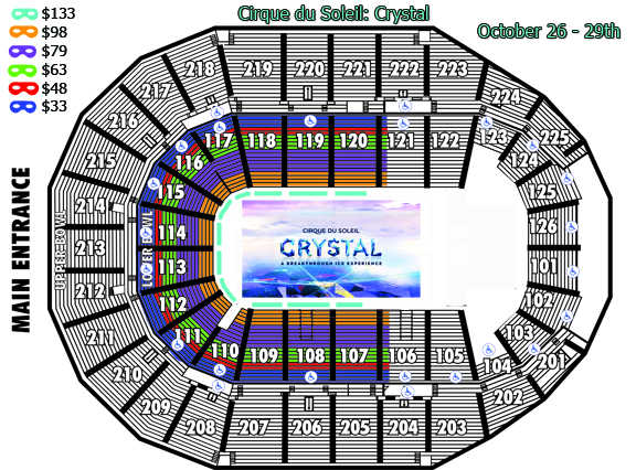 Cirque du Soleil Crystal Seating Chart
