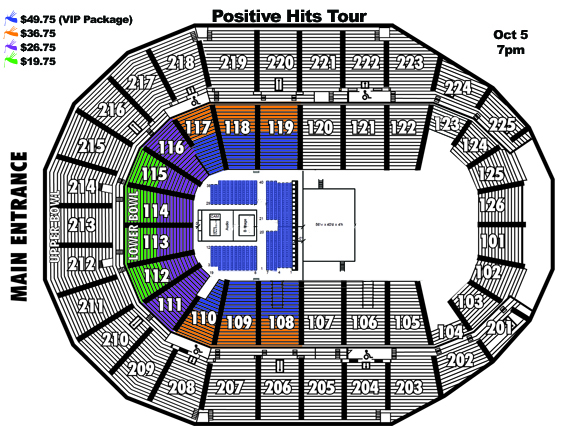 AiR1 Positive Hits Tour Seating Chart