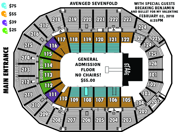 Avenged Sevenfold Seating Chart