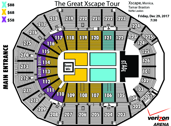 Xscape Seating Chart